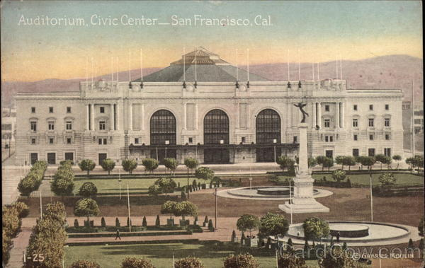 Auditorium, Civic Center San Francisco California
