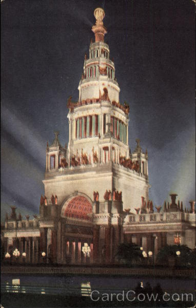 Illumination Tower of Jewels at the Panama Pacific International Exposition San Francisco California