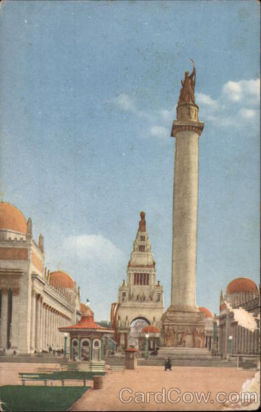 Column of Progress at the Panama Pacific International Exposition 1915 San Francisco California