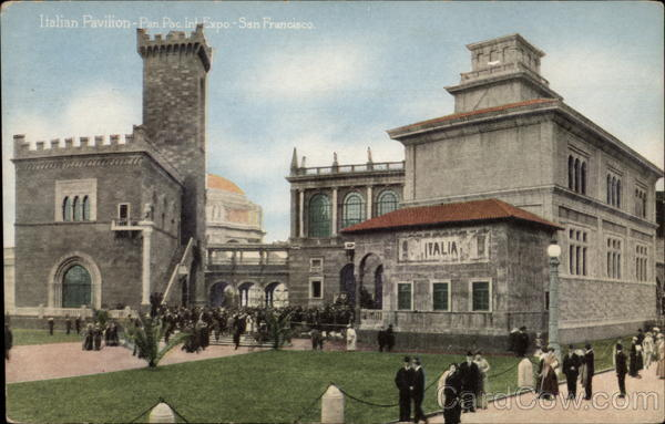 Italian Pavilion San Francisco California 1915 Panama-Pacific Exposition