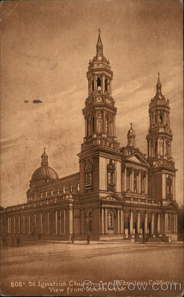 St. Ignatius Church, View From Southwest San Francisco California
