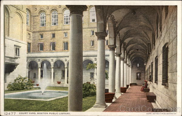 Court Yard, Boston Public Library Massachusetts
