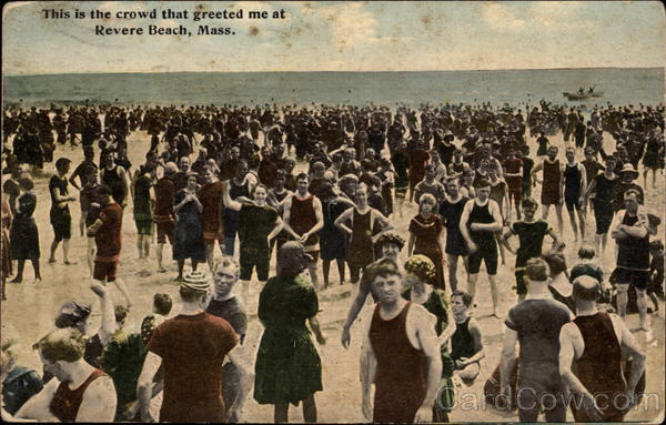 This is the crowd that greeted me Revere Beach Massachusetts