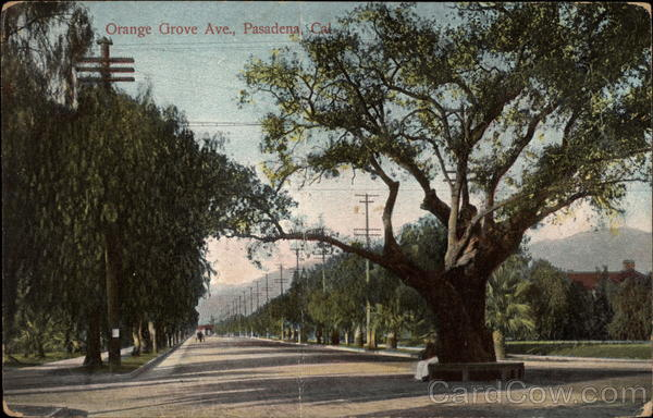 Orange Grove Ave Pasadena California