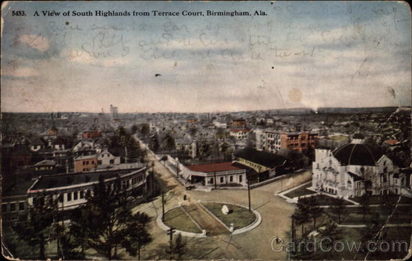 A View of South Highlands from Terrace Court Birmingham Alabama