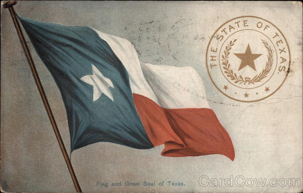 Flag And Great Seal Of Texas State Flowers Amp Seals
