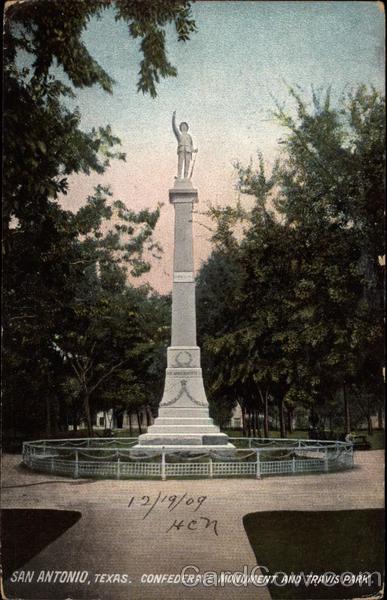 Confederate Monument and Travis Park San Antonio, TX
