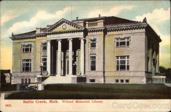 Willard Memorial Library Battle Creek Michigan
