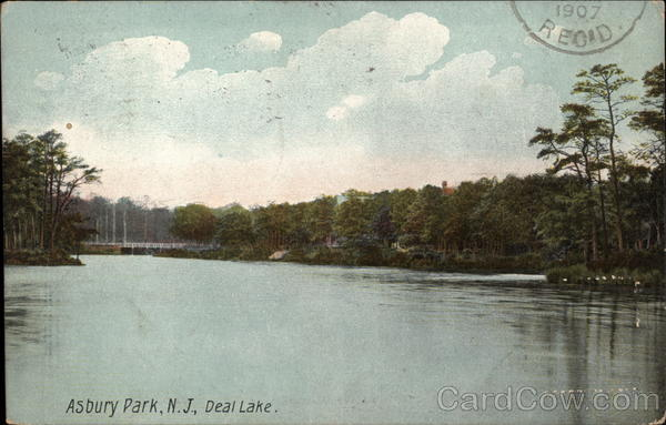 View of Deal Lake Asbury Park New Jersey