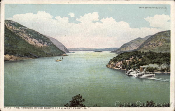 Looking North Up the Hudson River West Point New York