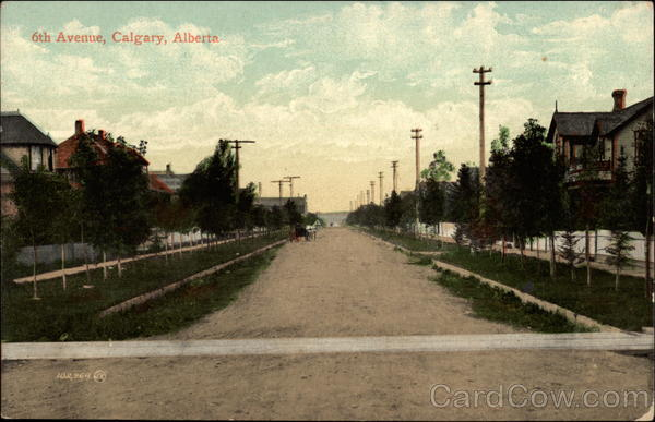 6th Avenue Calgary AB Canada Alberta