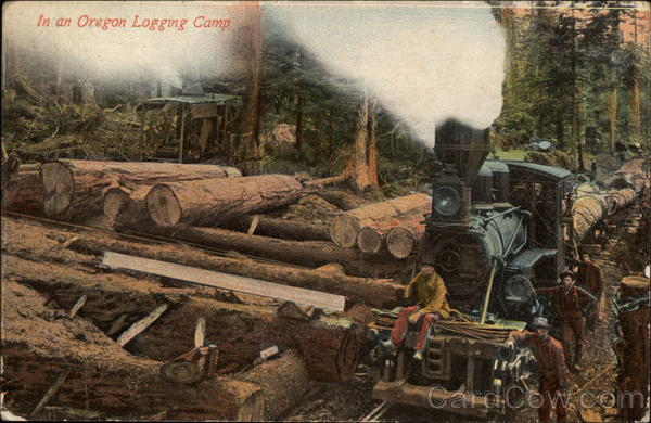 In an Oregon Logging Camp