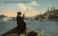 Fishing Near Willamette Falls