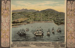 View of San Francisco, formerly Yerba Buena in 1845-7