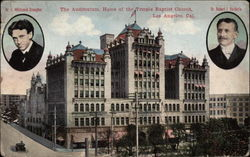 The Auditorium, Home of the Temple Baptist Church Postcard