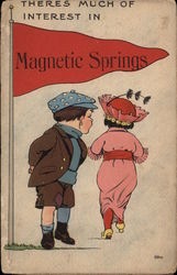 There is Much of Interest in Magnetic Springs Postcard