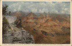 A Storm in the Canyon, Near Hotel el Tovar