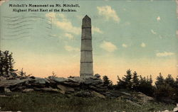 Mitchell's Monument on Mt. Mitchell