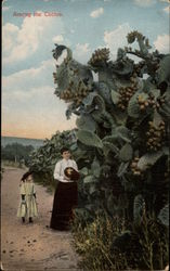 Among the Cactus, with Woman and Girl