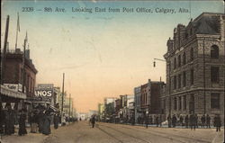 8th Avenue Looking East from Post Office Postcard