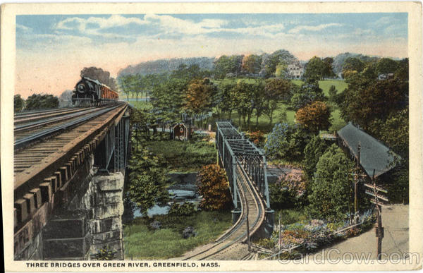 Three Bridges Over Green River Greenfield Massachusetts