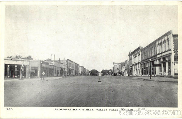 Broadway-Main Street Valley Falls Kansas