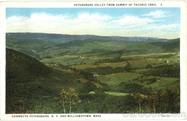 Petersburg Valley From Summit Of Taconic Trail Williamstown Massachusetts