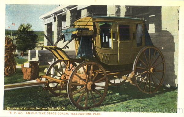 An Old Time Stage Coach Yellowstone Park Wyoming Yellowstone National Park