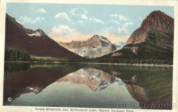 Gould Mountain And McDermott Lake Glacier National Park Montana