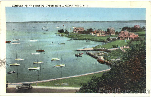 Samoset Point From Plimpton Hotel Watch Hill Rhode Island