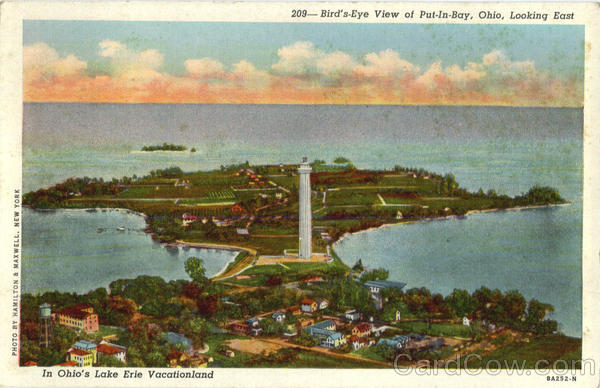 Bird's Eye View Of Put-In-Bay Ohio