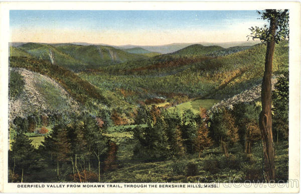 Deerfield Valley From Mohawk Tail Berkshires Massachusetts