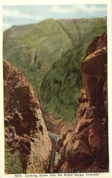 Looking Down Into The Royal Gorge Colorado