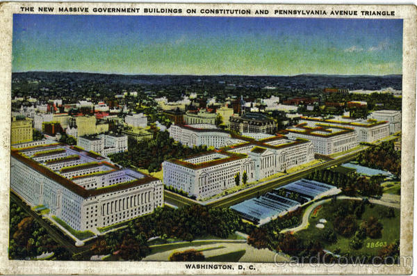 The New Massive Government Buildings On Constitution , Pennsylvania Avenue Triangle Washington District of Columbia