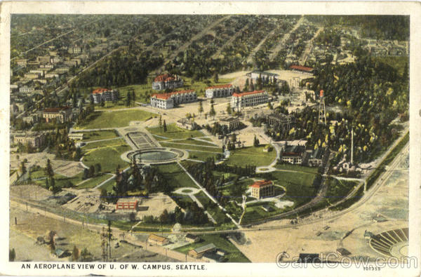 An Aeroplane View of U. Of W. Campus Seattle Washington