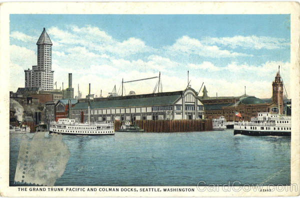 The Grand Trunk Pacific And Colman Ducks Seattle Washington