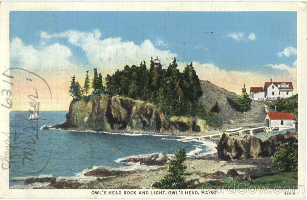 Owl's Head Rock And Light Maine