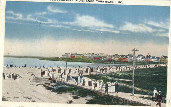 Boardwalk & Beach Concordville in Distance York Beach Maine