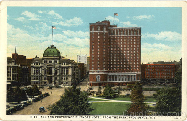 City Hall And Providence Biltmore Hotel From The Park Rhode Island