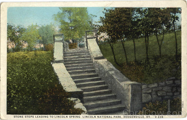 Stone Steps Leading To Lincoln Spring, Lincoln National Park Hodgenville Kentucky