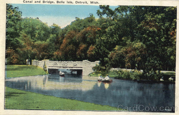 Canal And Bridge, Belle Isle Detroit Michigan