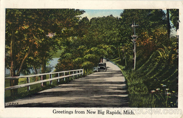 Greetings From New Big Rapids Michigan