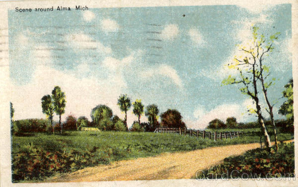 Scene Around Alma Michigan