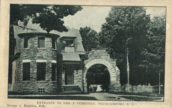 Entrance To Gro. E Cemetery Trumansburg New York