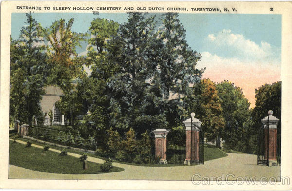 Entrance To Sleepy Hollow Cemetery And Old Dutch Church Tarrytown New York