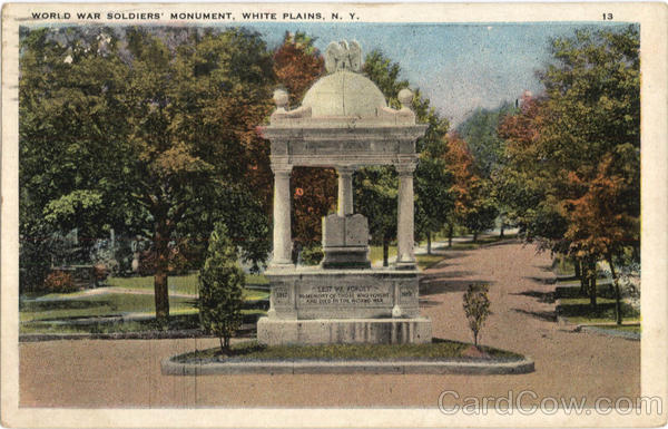 World War Soldiers Monument White Plains New York