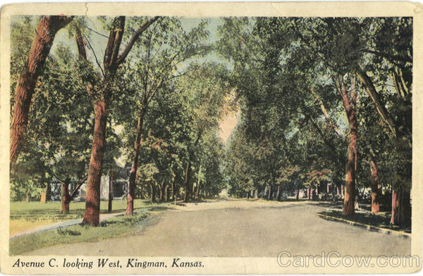 Avenue C. Looking West Kingman Kansas