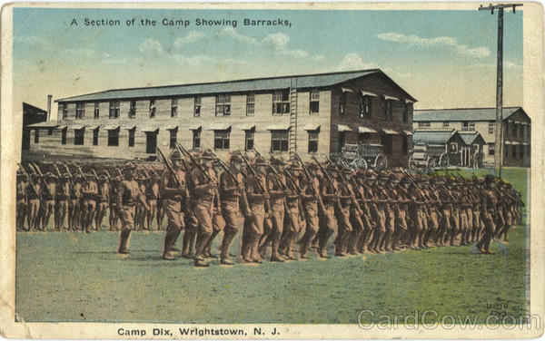 A Section Of Camp Dix Showing Barracks Wrightstown New Jersey