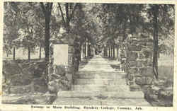 Avenue To Main Building , Hendrix College Postcard