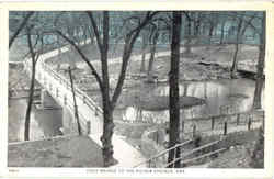 Foot Bridge To The Siloam Springs Postcard
